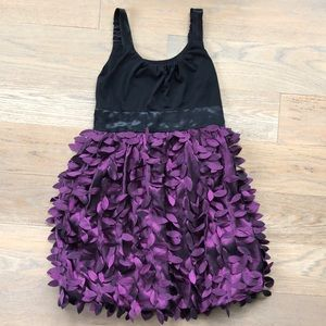 Sally Miller couture purple black dress size 12